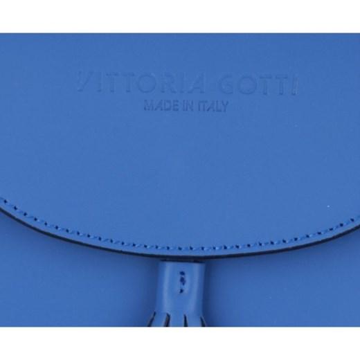 443d91da9394a VITTORIA GOTTI Made in Italy Eleganckie Torebki Skórzane Listonoszki  Kobaltowa (kolory) niebieski PaniTorbalska w Domodi