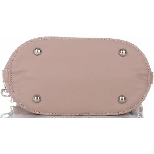 edc793d8ea06f ... David Jones shopper bag duża różowa w stylu boho zdobiona ...