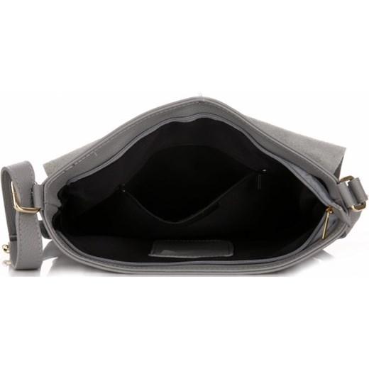 c805e79e6f89a VITTORIA GOTTI Made in Italy Ekskluzywne Torebki Listonoszki Skórzane Jasno  Szara (kolory) Genuine Leather 2