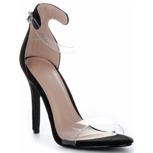 Modne Czółenka Damskie Czarne Ideal Shoes PaniTorbalska Buty Damskie MJ czarny Sandały damskie VYQV