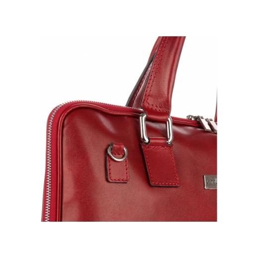 936ba65747bd1 Torebki Skórzane VITTORIA GOTTI Made in Italy Aktówka Damska A4 Czerwona  (kolory) czerwony PaniTorbalska w Domodi