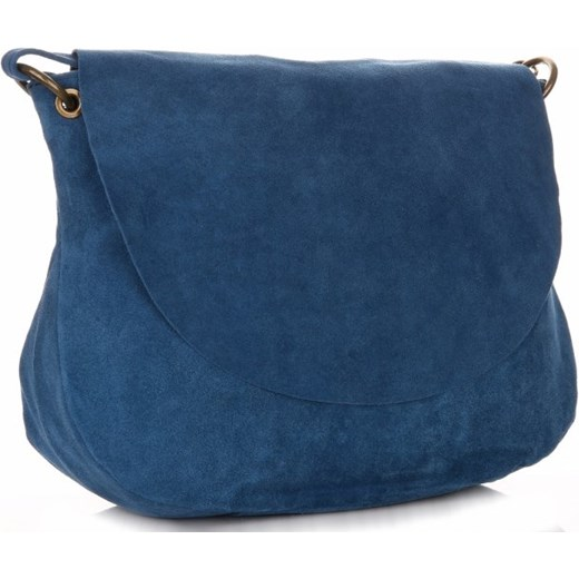 ebafb75aab307 Uniwersalna Torebka Skórzana Listonoszka Genuine Leather Niebieska (kolory) granatowy  PaniTorbalska w Domodi
