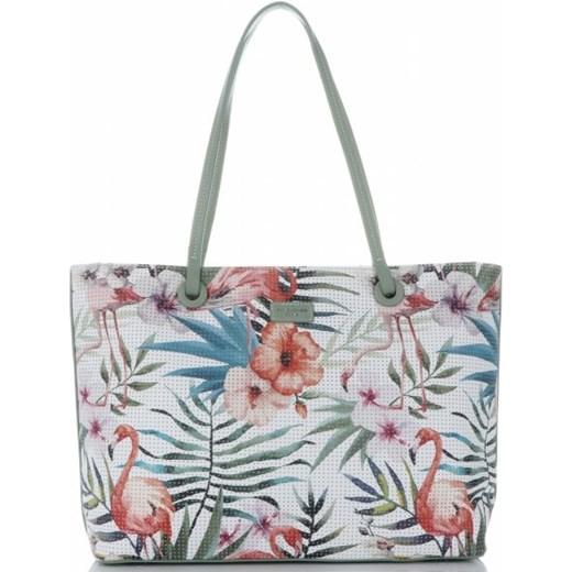 fff21d02b4003 Shopper bag David Jones wielokolorowa młodzieżowa bez dodatków duża ...