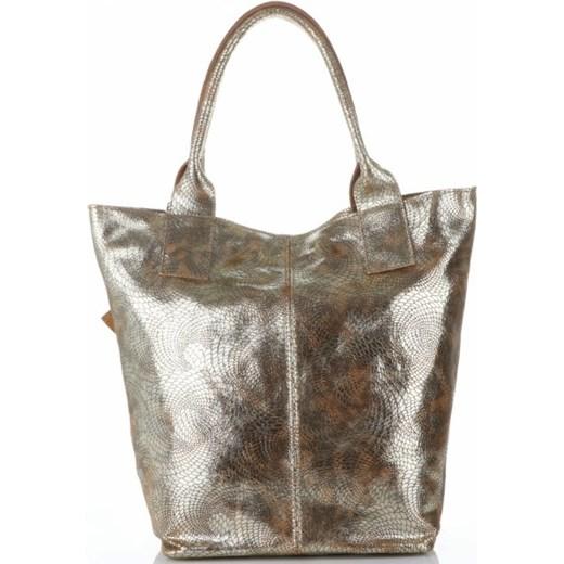 db95f3c149f6d9 ... Shopper bag Vittoria Gotti glamour lakierowana mieszcząca a8 skórzana