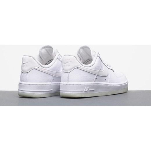 dee9859f ... gładkie ze skóry; Buty sportowe damskie Nike do biegania air force  białe ze skóry płaskie ...