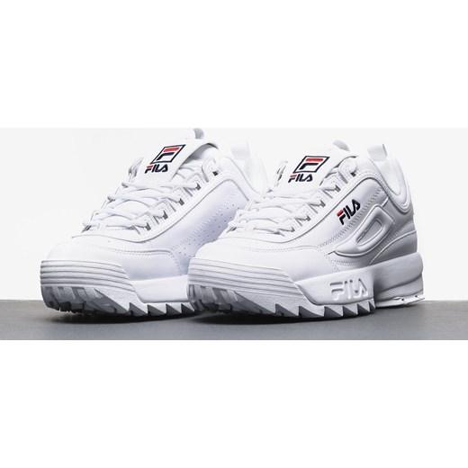 Buty sportowe męskie białe Fila sznurowane na wiosnę Buty