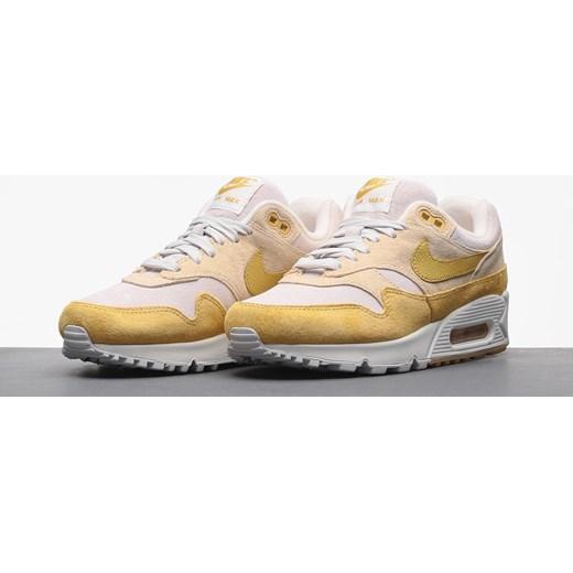 Żółte buty sportowe damskie Nike dla biegaczy air max 91 bez