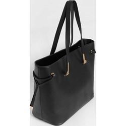 e3b119a66b295 Shopper bag ORSAY wakacyjna czarna ze skóry ekologicznej duża