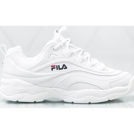 Buty sportowe męskie Fila sznurowane białe na wiosnę