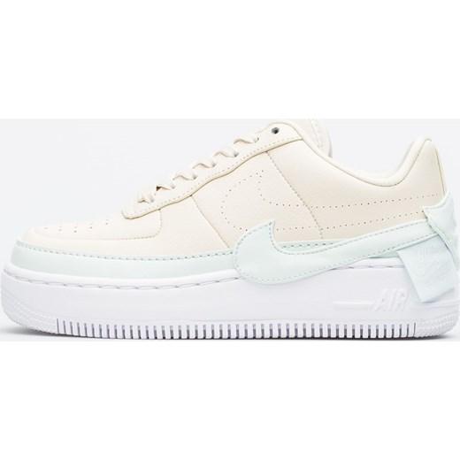 e0817676 Nike buty sportowe damskie dla biegaczy air force na koturnie gładkie  sznurowane