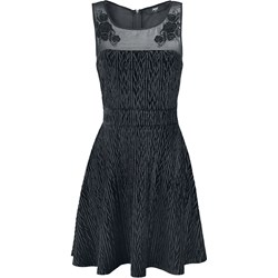 a37c7986c Sukienka czarna Black Premium By Emp z okrągłym dekoltem bez rękawów na  wiosnę