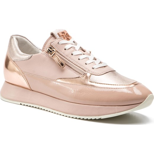 Buty sportowe damskie rÓżowe Högl sneakersy bez wzorÓw z