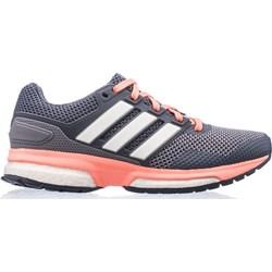 3f11a23c6 Buty sportowe damskie Adidas do biegania gładkie na płaskiej podeszwie  wiązane