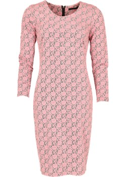Dopasowana sukienka z grafiką 3D + kolory  Niren wyprzedaż   - kod rabatowy