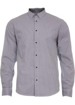 Koszula męska w drobna szaro-białą kratę Just yuppi  promocyjna cena NIREN  - kod rabatowy