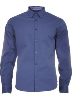 Klasyczna koszula męska gładka w kolorze granatowym  Just yuppi wyprzedaż NIREN  - kod rabatowy