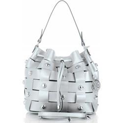 d1b1d6b797844 Shopper bag Vittoria Gotti wakacyjna zdobiona bez dodatków ze skóry na  ramię duża