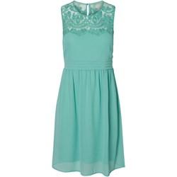 474c5fa5c5 Miętowa sukienka Vero Moda z okrągłym dekoltem prosta bez rękawów