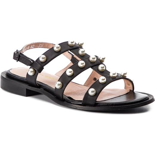 Sandały damskie L37 na płaskiej podeszwie z tworzywa sztucznego z klamrą płaskie Buty Damskie XC czarny Sandały damskie FJZI