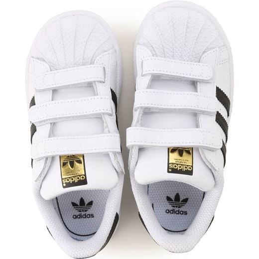 e9958c0a59654 ... Trampki dziecięce białe Adidas ze skóry bez wzorów