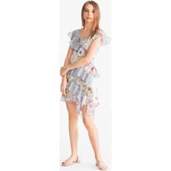 bbac13507b Clockhouse sukienka w kwiaty w stylu boho na spacer z poliestru