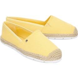 56bc7a5103514 Espadryle damskie Tommy Hilfiger tkaninowe żółte na lato płaskie