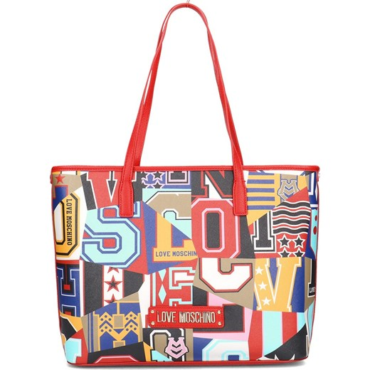 Shopper bag Love Moschino bez dodatków na ramię