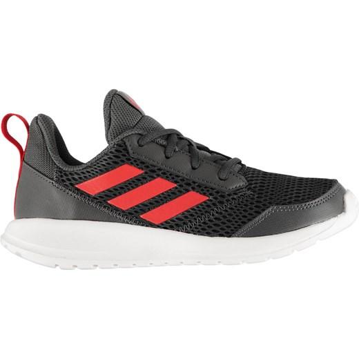 Buty sportowe damskie Adidas na płaskiej podeszwie gładkie sznurowane na wiosnę