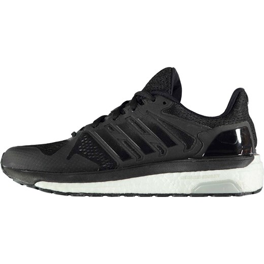 927e2ba2 ... Buty sportowe damskie Adidas do biegania na wiosnę czarne sznurowane  płaskie gładkie