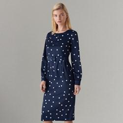 3bc4b9c3fe Sukienka Mohito niebieska z długim rękawem dopasowana