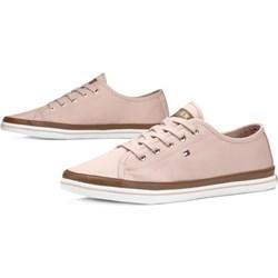 0b372de63b6cf Różowe buty damskie tommy hilfiger płaska podeszwa