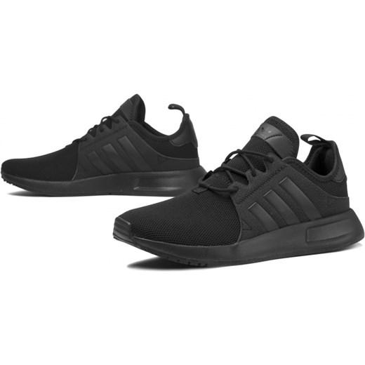 piękny Buty sportowe damskie czarne Adidas x_plr sznurowane
