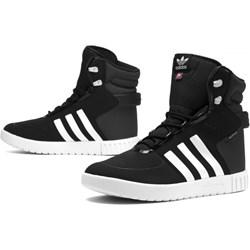 bdbcda71efbfe Trampki damskie Adidas sportowe płaskie gładkie ze skóry ekologicznej