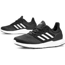 7367aba1bcb47 Czarne buty sportowe damskie Adidas do biegania płaskie na wiosnę bez wzorów