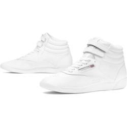 8799dfafbc86 Reebok trampki damskie wiązane białe bez wzorów na płaskiej podeszwie  sportowe