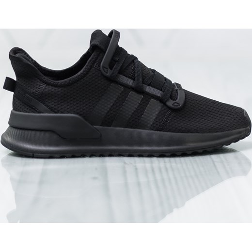 Buty sportowe damskie Adidas dla biegaczy czarne sznurowane