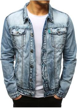 Kurtka męska jeansowa niebieska (tx2641)  Dstreet wyprzedaż   - kod rabatowy