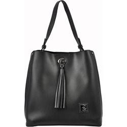 b5e94035ded10 Pierre Cardin shopper bag z frędzlami w stylu boho na ramię