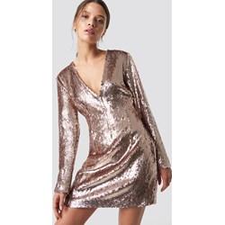 f135648c84 Sukienka NA-KD w stylu glamour mini złota