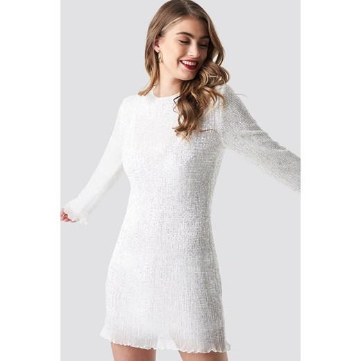 4f5b7ae57d Sukienka biała Pamela X Na-kd w Domodi
