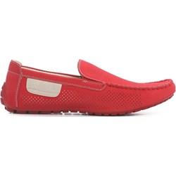 new styles a44c0 8bd98 Born2be mokasyny męskie czerwone bez zapięcia