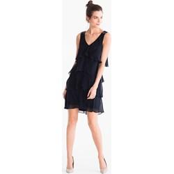 cbc12b58e102cd Sukienka Yessica asymetryczna bez wzorów bez rękawów