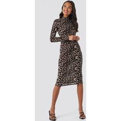 9499e441ca Sukienka NA-KD Trend na co dzień z jerseyu z długim rękawem z golfem