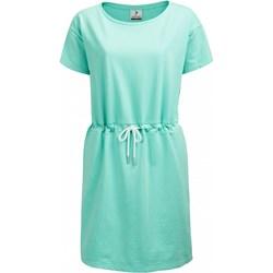 5c4597e6e3 Sukienka Outhorn casualowa niebieska z krótkim rękawem prosta z okrągłym  dekoltem na co dzień dresowa