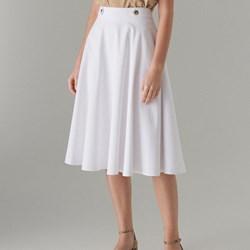 eb3815eb9b Spódnica Mohito biała midi
