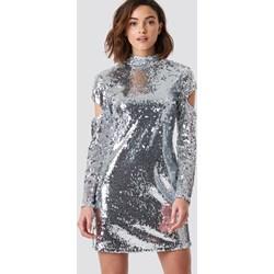 e4189cf321 Sukienka NA-KD Party srebrna mini prosta