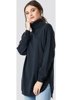 NA-KD Trend Turtle Neck Long Sweater - Blue  Na-kd Trend NA-KD - kod rabatowy