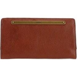2454fa0846f45 Czerwony portfel damski Fossil elegancki
