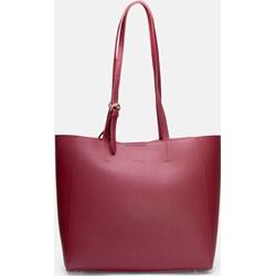 7355856629d7 Czerwona shopper bag Kazar skórzana