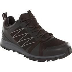 0d4a1265 Czarne buty trekkingowe męskie The North Face sznurowane sportowe gore-tex